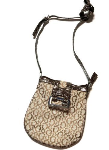 Guess Womens Hilda Mini Mongram Purse Bag Shoulder