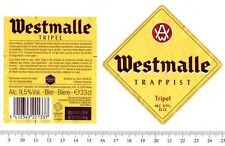 Beer Label - L'Abbaye Trappiste Brewery - Belgium - Westmalle Tripel