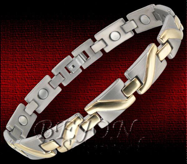 *neu* Titan Armband Armreif Damen Gold Plattiert 21,7cm 9mm *ta-06-g* GläNzende OberfläChe