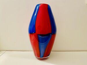 🔴 GRANDE e Splendido vaso vintage in vetro di Murano anni 90