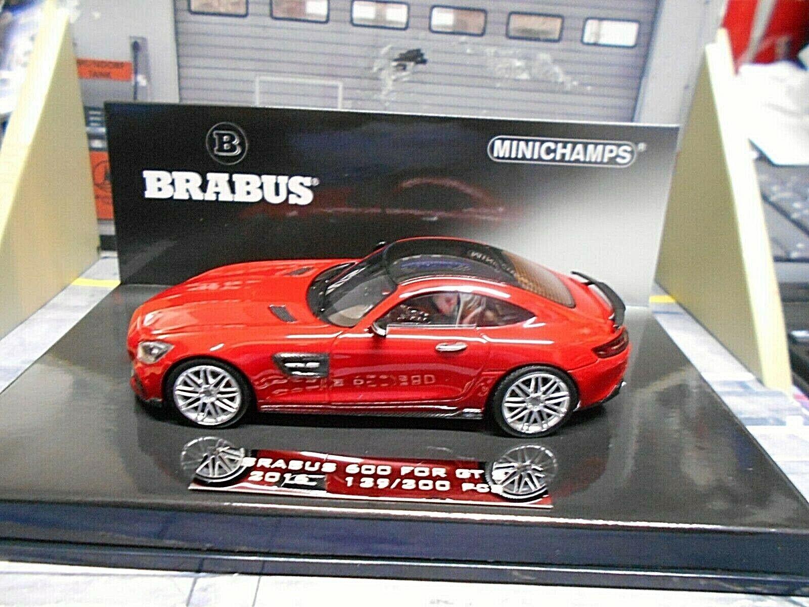 MERCEDES BENZ GTS GT S Brabus 600 2016 Coupe rot rot Sonderpreis Minichamps 1 43