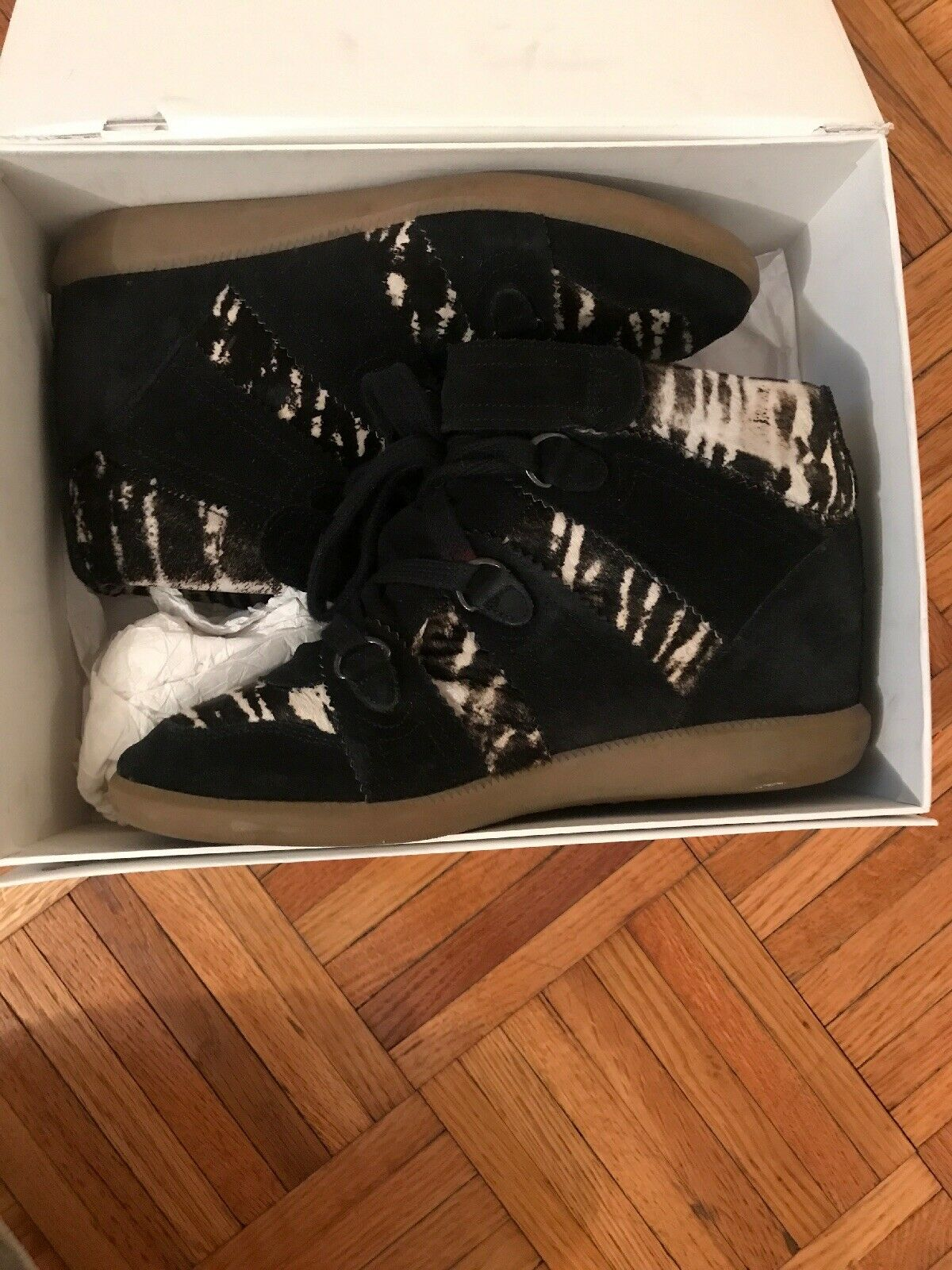 Isabel Marant Pony Over Basket Sneaker Size 41