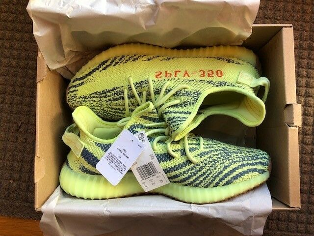Adidas Yeezy Boost 350 v2 Semi Frozen Yellow Size 11 -  Ships in 1 Business Day
