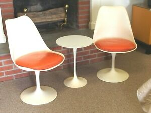 Enjoyable Details About Saarinen 1950S Modern Tulip Chairs And Table Knoll Uwap Interior Chair Design Uwaporg