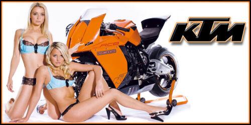 Street Bike Chic #8 KTM Motorcycle Motocross Racing Garage Banner
