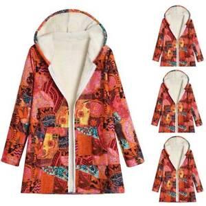 Das Bild wird geladen Damen-Winterjacke-Warm -Hoodies-Langarm-Kapuzenpullover-Steppjacke-Orange- 30d24cf561