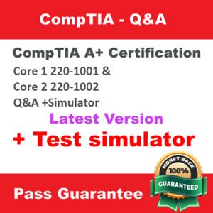 CompTIA A Certification Core 2 220-1002 Exam Dump Q/&A PDF Test Simulator