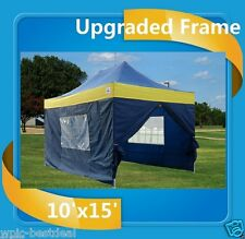 10'x15' Pop Up Canopy Party Tent EZ - Navy Blue / Yellow -F Model Upgraded Frame
