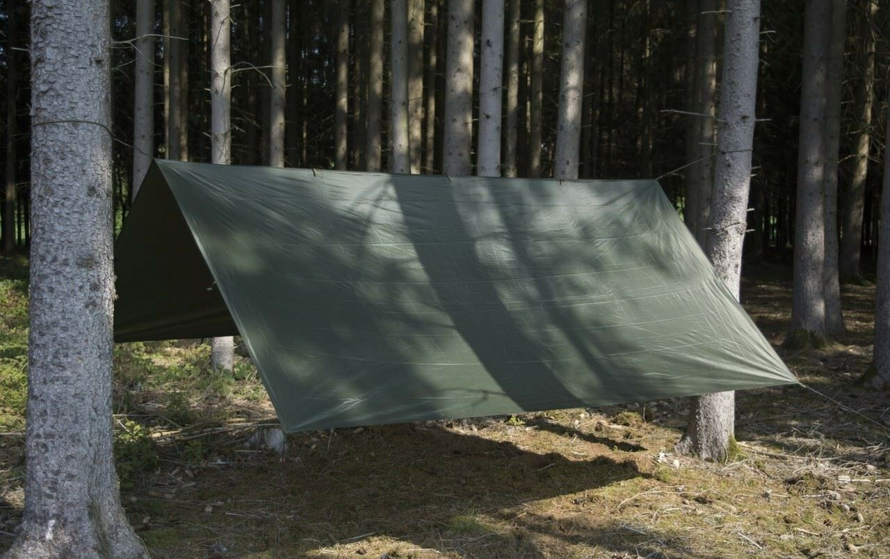 Helikon TEX supertarp Outdoor Campeggio Wilderness Bushcraft Tarp BASHRA verde Oliva