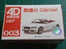 1/87 HO Scale Audi A5 Cabriolet Plastic Model Kit 4D #003