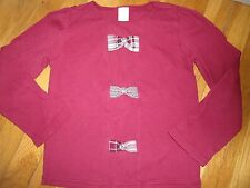 GYMBOREE SHIRT TOP SIZE 8 YEARS WARM MINT RED FAMILY PORTRAIT BOWS WINTER