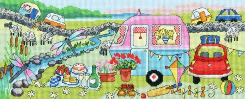 BOTHY THREADS CARAVAN FUN CAMPING COUNTED CROSS STITCH KIT BY JULIA RIGBY XJR34