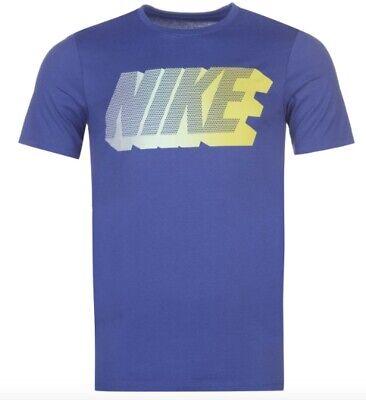 Nike Homme T Shirt Bleu Jaune Toutes les Tailles Neuf avec Étiquette | eBay