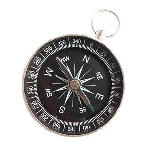 Silver Mini Portable Pocket Compass Camping Hiking Outdoor Sports Navigation Pg