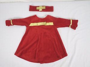 9e05d2be2 Jordan Marie Baby Girl Christmas Dress Size 12 Month Head Band Red ...