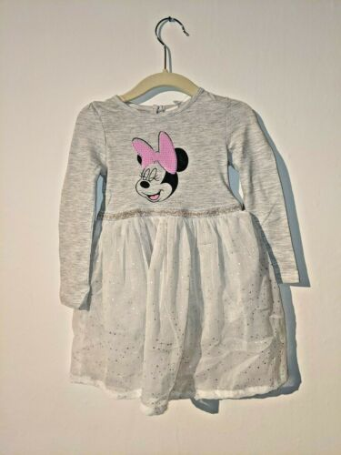 Disney Mini Mouse Grey Sequin Tutu Dress Baby Girl 9 12 18 24 Months New With...
