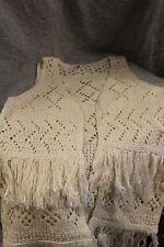 Girls' Xhilaration Fringe Sweater Vest ~ Ivory ~ New w/Tags ~ SMALL
