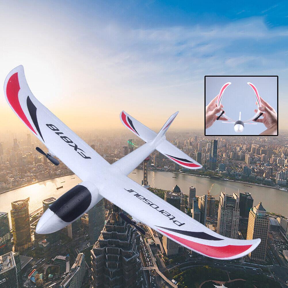 KQ _ KF _ FX-818 2.4G EPP control remoto juguete RC Avión Planeador con luz LED GIF