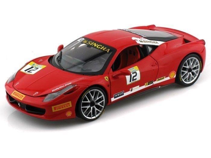 Hot Wheels Ferrari 458 Défi Course  12 rouge 1 18 Petite Voiture Bct89
