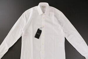 SAINT-LAURENT-Yves-Collar-Shirt-White-Cotton-Poplin-37-14-5-NWT-550