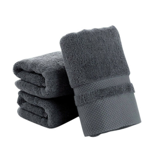 Solid Cotton Towels Ultra Soft Towel Hand Bath Thick Towel Bathroom Rectangle US