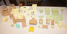 1950s Vintage Marx Ideal Renewal Dollhouse Furniture Lot 40 Pieces