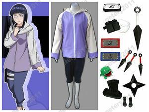 Image is loading Naruto-Anime-Hyuga-Hinata-Children-cosplay-Costume-Uniform-