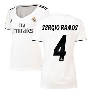 adidas Real Madrid 2018 - 2019 Womens Sergio Ramos   4 Home Soccer ... 0d96c20e7
