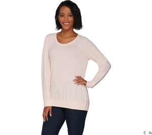 X Pink Terry French Pure Scoop Color H large Halston Neck Size Sweatshirt By PqXzw1