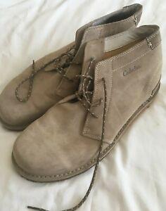 cabela's mens size 12m tan suede chukka boots lace up gum