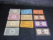 Old Vtg Millton Bradley Ideal PLAY MONEY Dollars 1 5 10 20 50 100 500 Large Lot