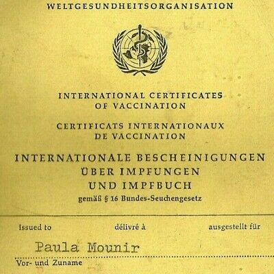 Certificate Of Vaccination Id