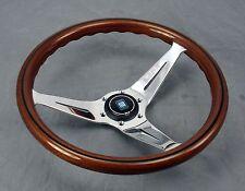 Nardi Steering Wheel Deep Dish Corn 350 mm Mahogany Wood Polished Type A Horn