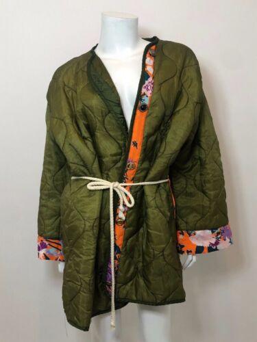 RILEY Vintage Liner Jacket in Army Green/Orange O/