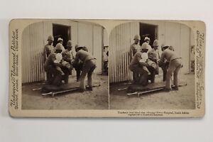 Guerre-Dei-Boeri-1899-1902-Africa-Del-Sud-UK-Foto-29-Stereo-Vintage-Albumina