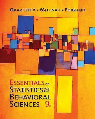 NEW - Free Ship - Essentials of Statistics by Gravetter (9 Ed)