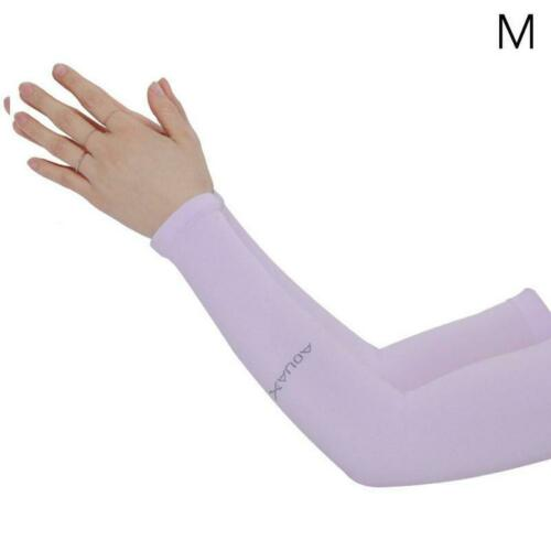 1 Pair Cooling Arm Sleeves Cover Sports UV Sun Protection Sa Outdoor Unisex F8Y5