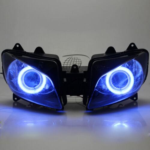 Assembly HID Projector Headlight Blue Angel Eye For Yamaha YZF-R1 1998-1999
