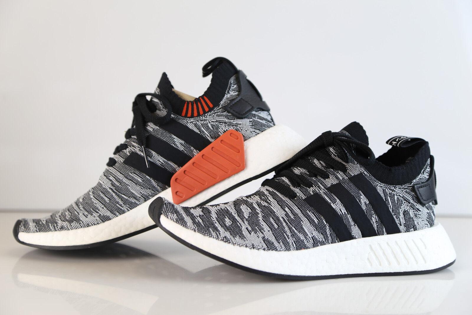 Adidas NMD R2 PK Tiger Camo Black White Glitch BY9409 7-13 boost prime knit r1 3