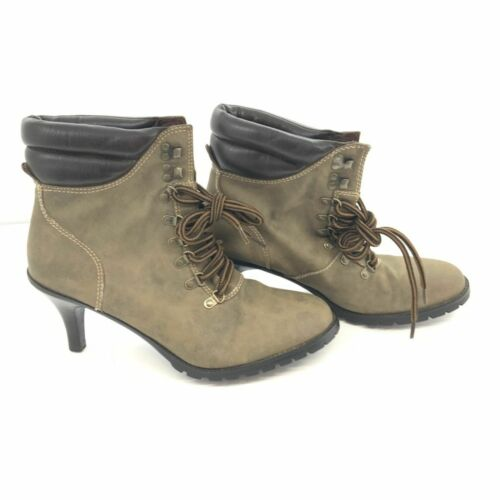 Rampage Womens Morely Olive Brown Boots 10