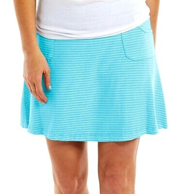 FRESH PRODUCE Extra Large TEAL BLUE Tiered Jersey Skirt NWT New XL