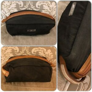dcf06068df2 Vintage GUCCI Brown Canvas and GG Monogram inside Toilette Pouch ...