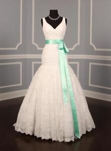 Spearmint Double Faced Satin Ribbon Sash Bridal Wedding Bridesmaid Brand New
