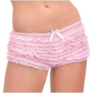 Leg-Avenue-Cute-Micromesh-Lace-Ruffle-Tanga-Shorts-2985