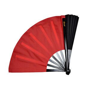 China-Kung-Fu-Tai-Chi-martial-art-Dance-Practice-Duplex-Dual-color-fan-Red-Black