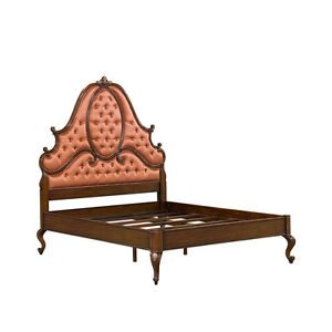 French-Queen-size-bed-headboard-rails-and-footboard-in-mahogany