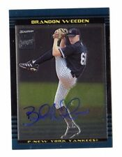 BRANDON WEEDEN MLB 2002 BOWMAN CHROME DRAFT AUTO (NEW YORK YANKEES)