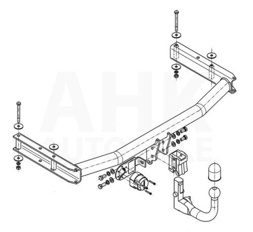 Für Audi A4 B7 4-Tür Limousine Anhängerkupplung abnehmbar+ES 13p ABE