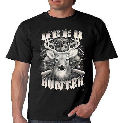DEER Stag Hunter buck elk antler hunting t-shirt S-XXL tee