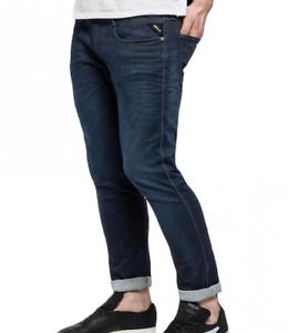 REPLAY ANBASS HYPERFLEX Stretch Blu Scuro Uomo In Denim Jeans Taglia W28 L30 £ 145
